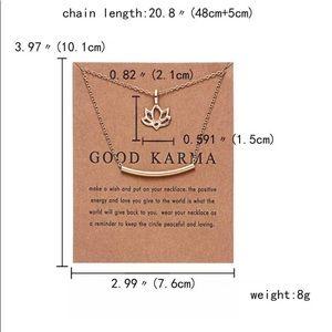 Rinhoo Jewelry - Good Karma Flower Necklace Lucky Charm Party Gift